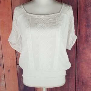Lucky Brand Bohemian sheer top